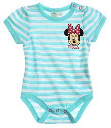 Disney Dievčenské body Minnie - modré, 80 cm