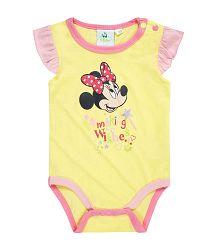 Disney Dievčenské body Minnie - žlté, 62 cm