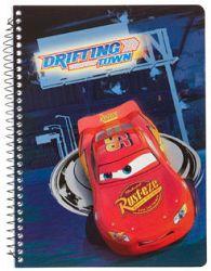 Disney Krúžkový blok Cars, A5 - modrý