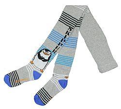 E plus M Chlapčenské pančucháče Tučniaci z Madagaskaru - šedé, 98-104 cm