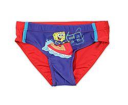 E plus M Chlapčenské plavky SpongeBob - červeno-modré, 110 cm