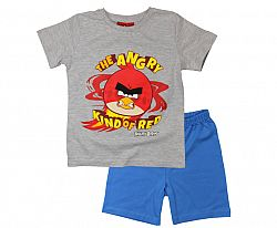 E plus M Chlapčenské pyžamo Angry Birds - sivo-modré, 134 cm