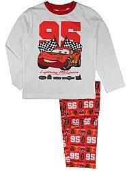 E plus M Chlapčenské pyžamo Cars - bielo-červené, 128 cm