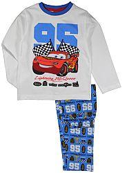 E plus M Chlapčenské pyžamo Cars - bielo-modré, 110 cm