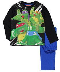 E plus M Chlapčenské pyžamo Korytnačky Ninja - čierno-modré, 128 cm