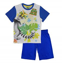 E plus M Chlapčenské pyžamo Kráľ Jelimán - modré, 122 cm