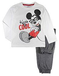 E plus M Chlapčenské pyžamo Mickey - bielo-modré, 98 cm