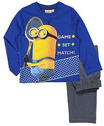 E plus M Chlapčenské pyžamo Mimoni - modré, 122 cm