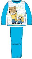 E plus M Chlapčenské pyžamo Mimoni - svetlo modré, 128 cm