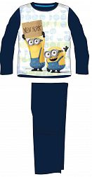 E plus M Chlapčenské pyžamo Mimoni - tmavo modré, 128 cm