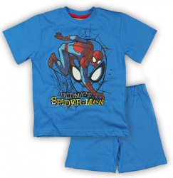 E plus M Chlapčenské pyžamo Spiderman - modré
