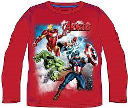 E plus M Chlapčenské tričko Avengers - červené, 128 cm