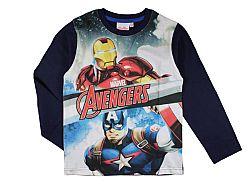 E plus M Chlapčenské tričko Avengers - tmavo modré, 122 cm