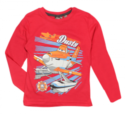 E plus M Chlapčenské tričko Lietadlá - červené, 122 cm
