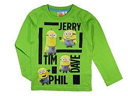 E plus M Chlapčenské tričko Mimoni - zelené, 104 cm