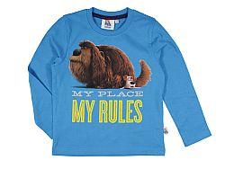 E plus M Chlapčenské tričko Tajný život maznáčikov - modré, 110 cm