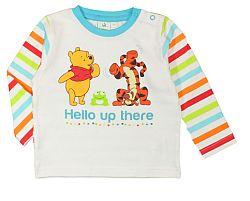 E plus M Detské tričko Medvedík Pú - biele, 74 cm