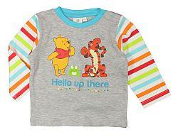 E plus M Detské tričko Medvedík Pú - šedé, 68 cm