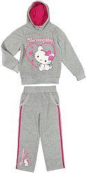 E plus M Dievčenská tepláková súprava Hello Kitty - sivá, 116 cm