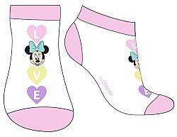E plus M Dievčenské nízke ponožky Minnie - ružovo-biele