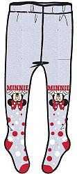 E plus M Dievčenské pančucháče Minnie - sivé, 128-134 cm