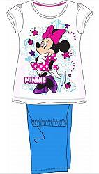 E plus M Dievčenské pyžamo Minnie - modrobiele, 122 cm