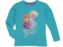 E plus M Dievčenské tričko Frozen - modré, 110 cm