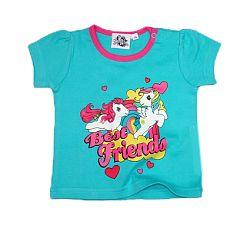 E plus M Dievčenské tričko Pony - tyrkysové, 62 cm
