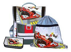 Emipo Chlapčenský školský set aktovkový 3-dielny Formula racing