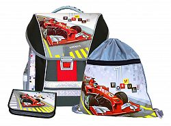 Emipo Chlapčenský školský set batohová 3-dielny Formula racing