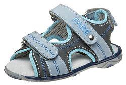 Fare Chlapčenské sandále - šedo-modré, EUR 27