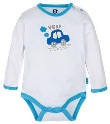 G-mini Chlapčenské body Autíčka - biele, 62 cm