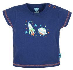 G-mini Chlapčenské tričko Raketa - modré, 74 cm