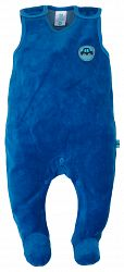 G-mini Chlapčenské velúrové dupačky Autíčka - modré, 56 cm