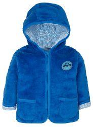 G-mini Chlapčenský hrejivý kabátik Autíčka - modrý, 68 cm