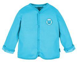 G-mini Chlapčenský obojstranný kabátik Macko - modrý, 74 cm