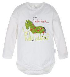 G-mini Detské body Pekne česky s koňom - biele, 62 cm