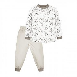G-mini Detské pyžamo Macko - hnedo-biele, 80 cm