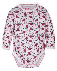 G-mini Dievčenské body Lienka - bielo-červené, 86 cm