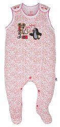 G-mini Dievčenské dupačky Krtko a telefón - bielo-ružové, 56 cm