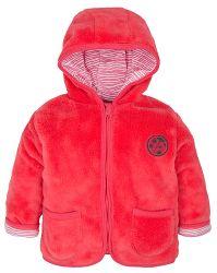G-mini Dievčenský hrejivý kabátik s kapucňou Lienka - ružový, 56 cm