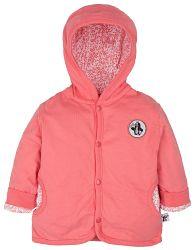 G-mini Dievčenský obojstranný kabátik Krtko a telefón - bielo-ružový, 62 cm
