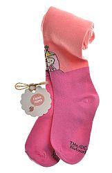 Garnamama Dievčenské pančucháče - ružovo-oranžové, 98-104 cm