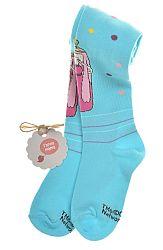 Garnamama Dievčenské pančucháče s puntítky - modré, 98-104 cm