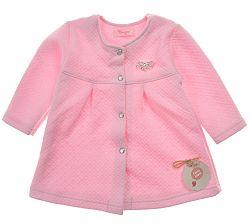 Garnamama Dievčenský kabátik - ružový, 86 cm