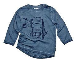 Gelati Chlapčenské tričko s indiánom - tmavo modré, 110 cm