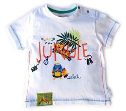 Gelati Chlapčenské tričko s motívom džungle - biele, 80 cm