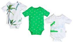 Gelati Chlapčenský set 3ks body Aloha - bielo-zelený, 50-56 cm