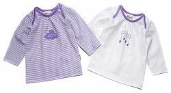 Gelati Dievčenská súprava 2 ks tričiek Home - fialová, 74 cm