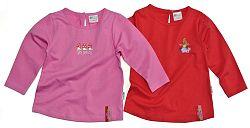 Gelati Dievčenská súprava 2 ks tričiek - ružovo-červené, 98 cm